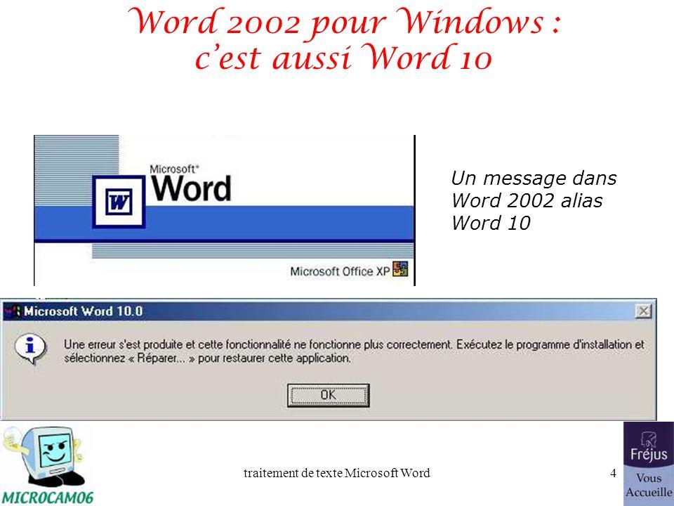 Word 2002 pour Windows : c'est aussi Word 10