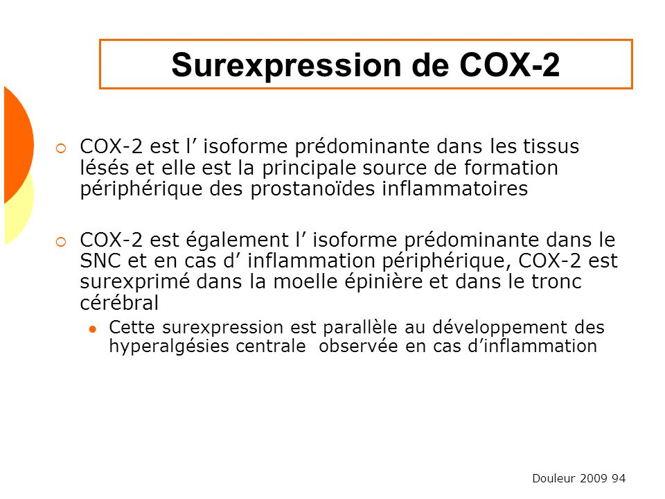 Surexpression de COX-2