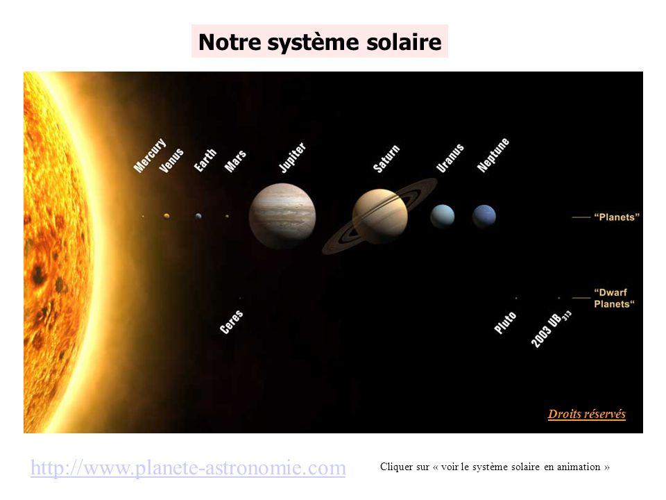 Notre système solaire http://www.planete-astronomie.com