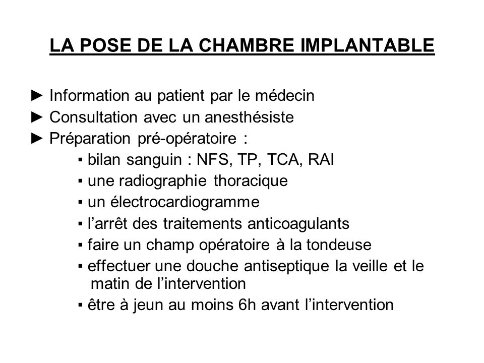 La chambre implantable mercredi 23 avril ppt video online - Pose de chambre implantable technique ...