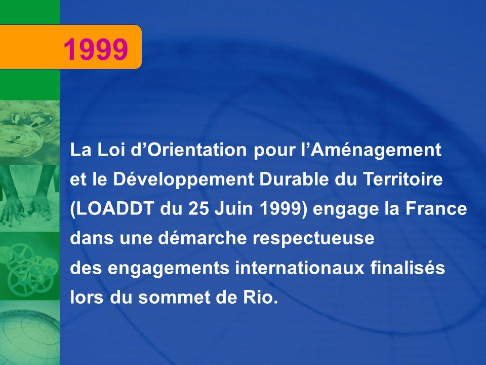 1999 La Loi d'Orientation pour l'Aménagement
