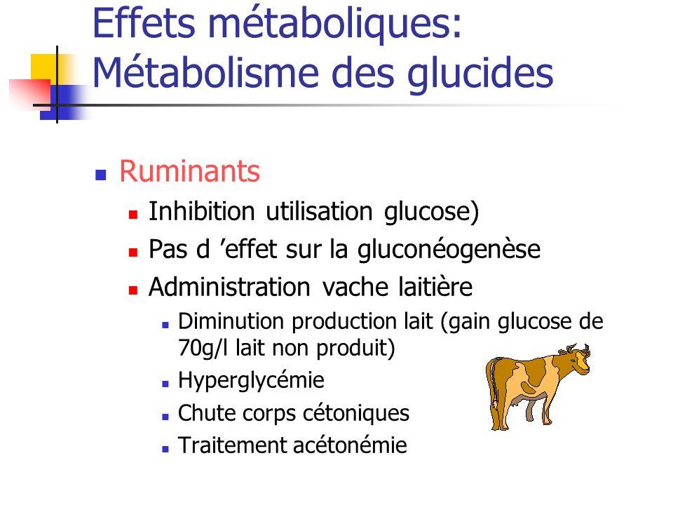 Effets métaboliques: Métabolisme des glucides