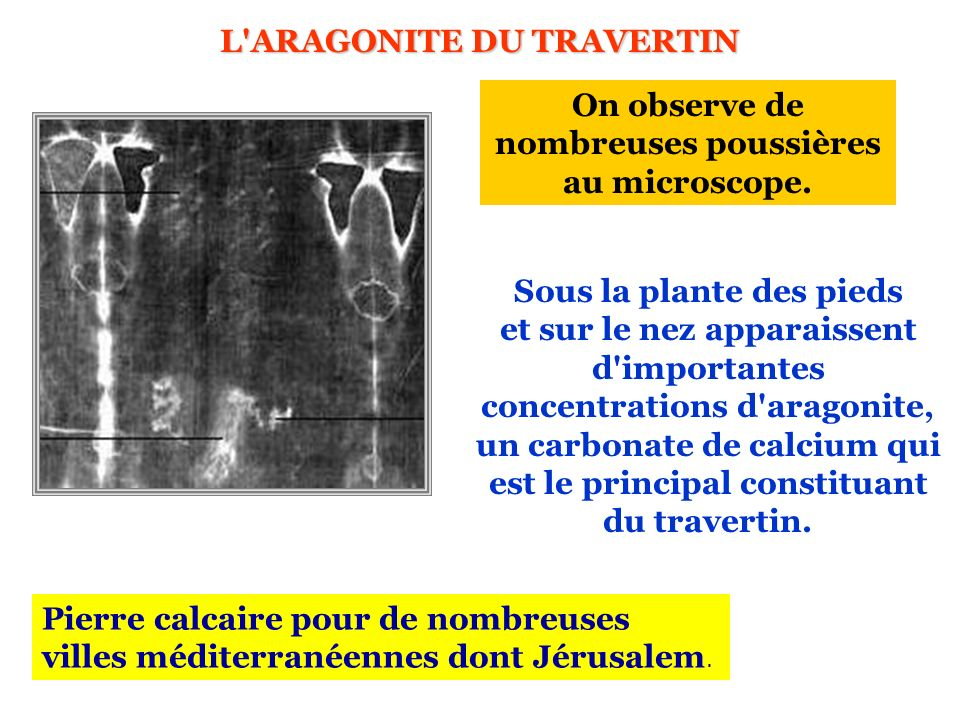L ARAGONITE DU TRAVERTIN