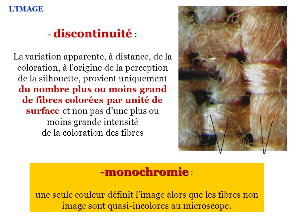 de la coloration des fibres
