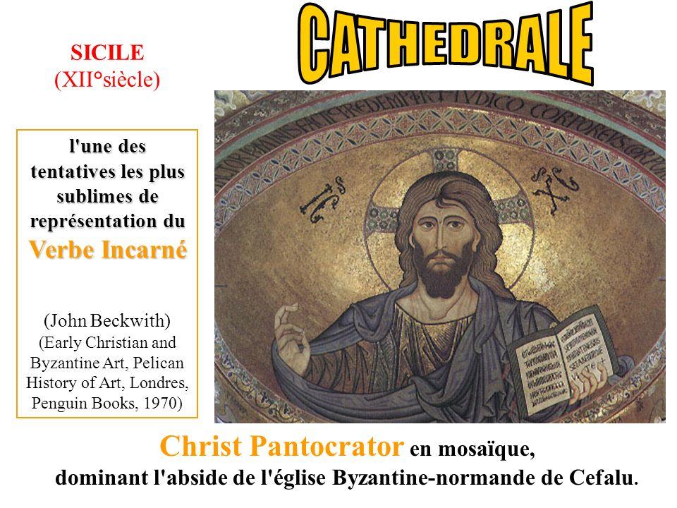 CATHEDRALE Christ Pantocrator en mosaïque, SICILE (XII°siècle)