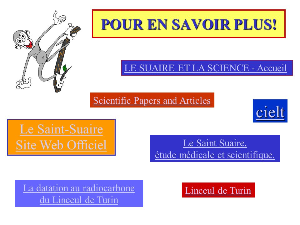 cielt POUR EN SAVOIR PLUS! Le Saint-Suaire Site Web Officiel