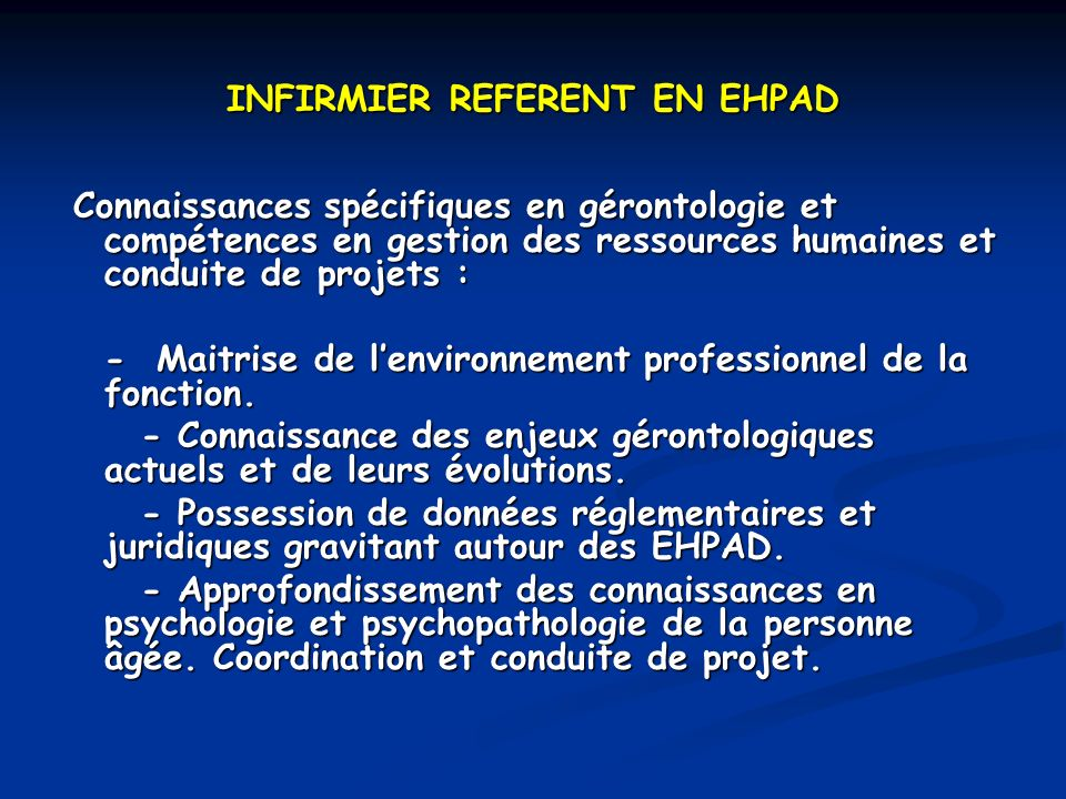 INFIRMIER REFERENT EN EHPAD