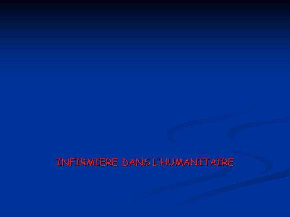INFIRMIERE DANS L'HUMANITAIRE