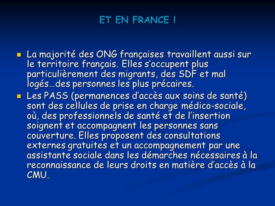 ET EN FRANCE !