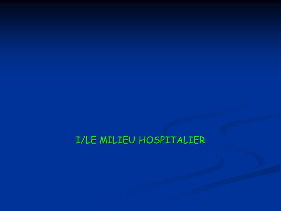 I/LE MILIEU HOSPITALIER
