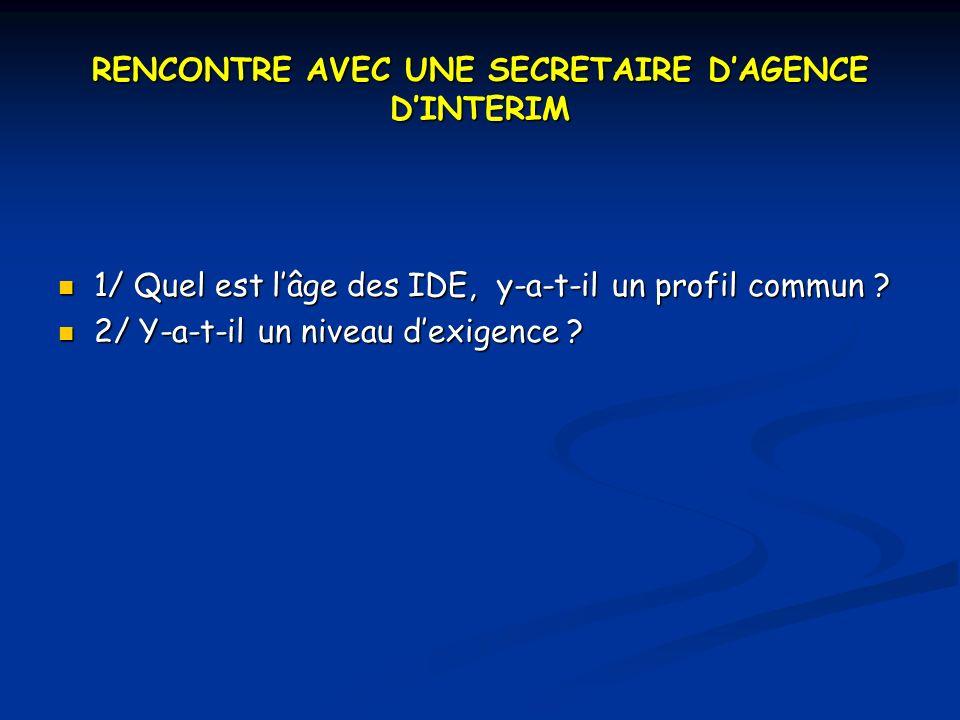 RENCONTRE AVEC UNE SECRETAIRE D'AGENCE D'INTERIM