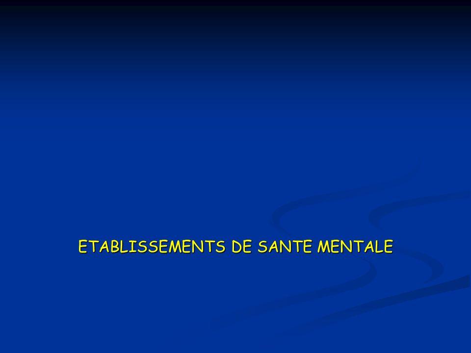 ETABLISSEMENTS DE SANTE MENTALE