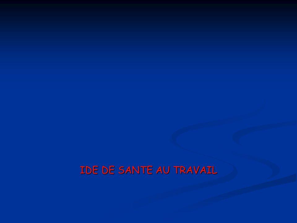 IDE DE SANTE AU TRAVAIL