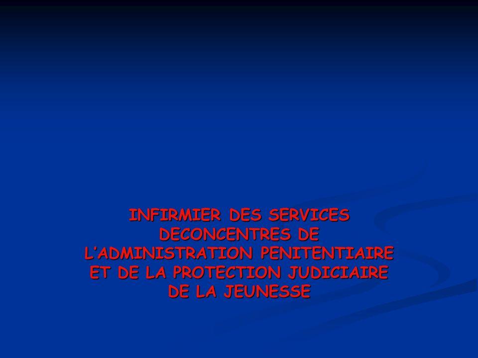 INFIRMIER DES SERVICES DECONCENTRES DE L'ADMINISTRATION PENITENTIAIRE ET DE LA PROTECTION JUDICIAIRE DE LA JEUNESSE