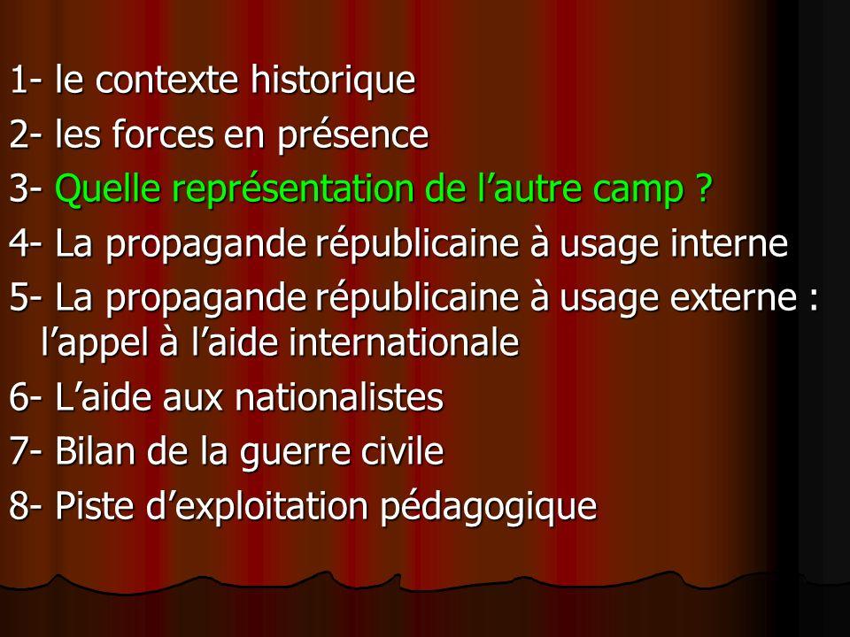 1- le contexte historique