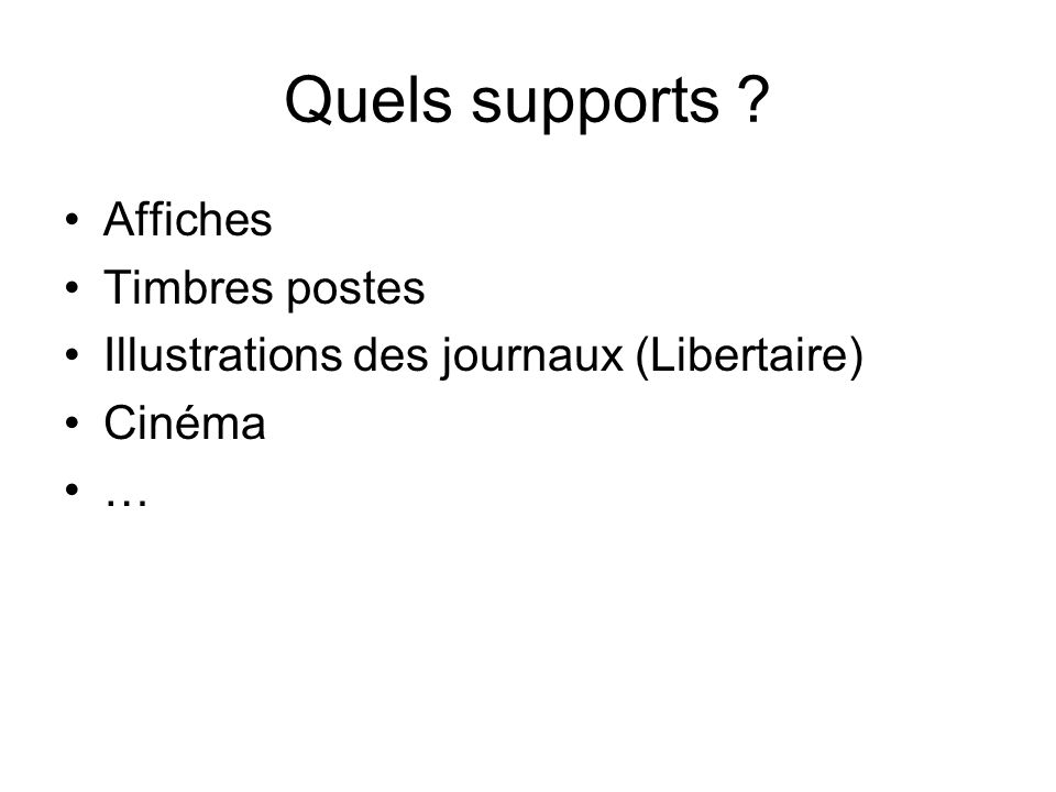 Quels supports Affiches Timbres postes