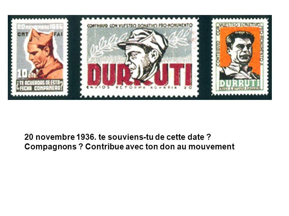 20 novembre 1936. te souviens-tu de cette date. Compagnons