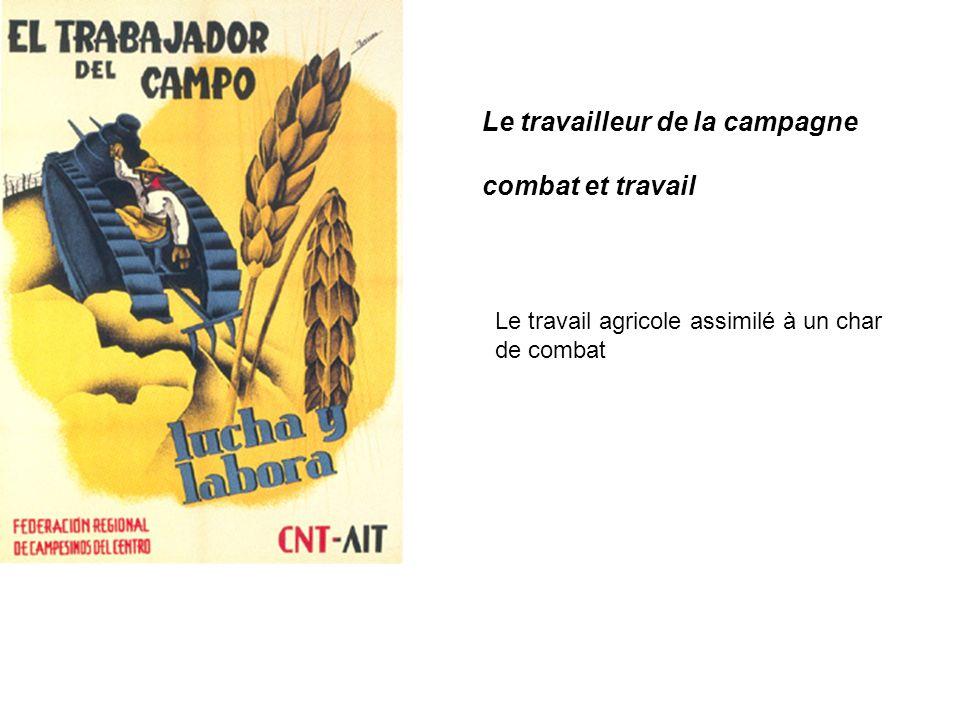 Le travailleur de la campagne combat et travail