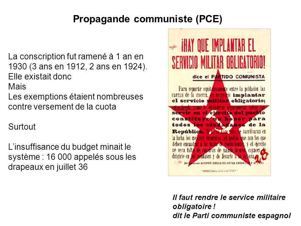 Propagande communiste (PCE)