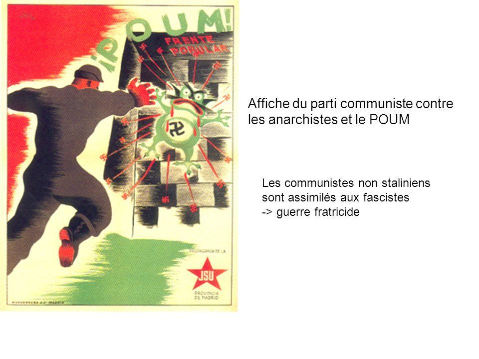 Affiche du parti communiste contre les anarchistes et le POUM