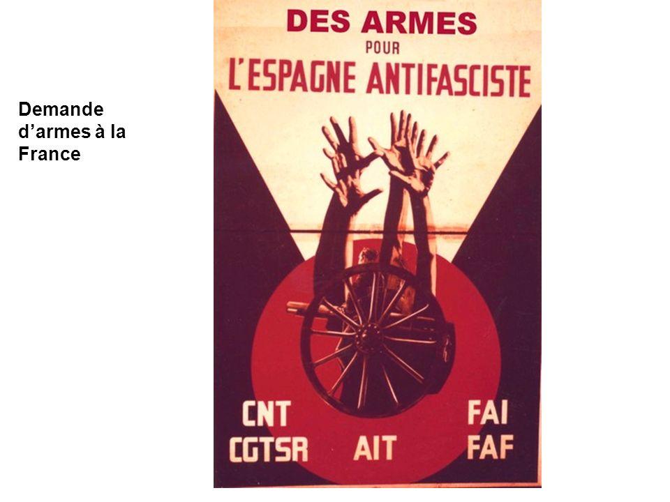 Demande d'armes à la France