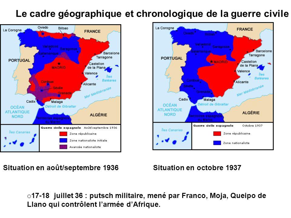 Le cadre géographique et chronologique de la guerre civile