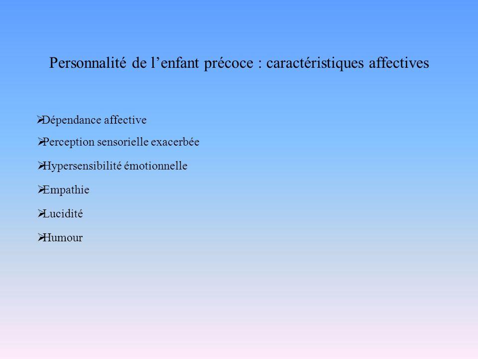 Personnalité de l'enfant précoce : caractéristiques affectives