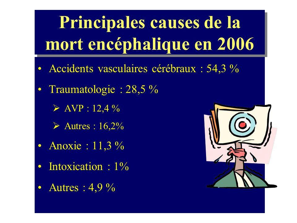 Principales causes de la mort encéphalique en 2006