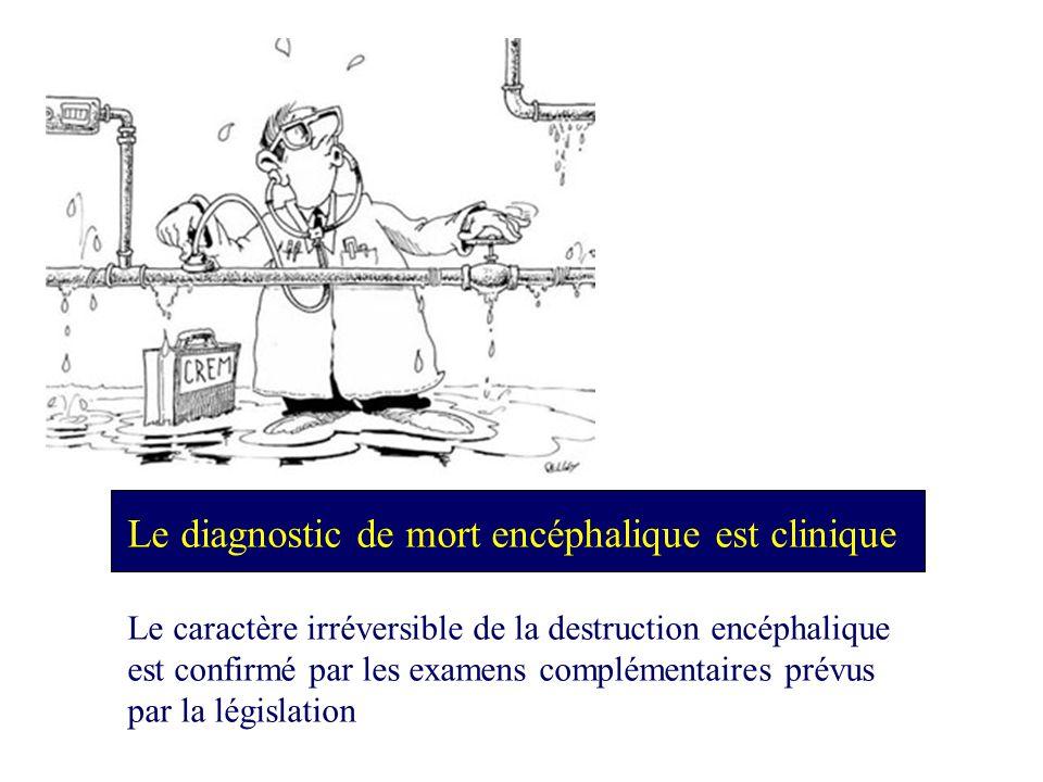 Le diagnostic de mort encéphalique est clinique