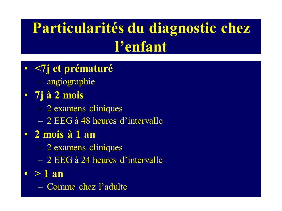 Particularités du diagnostic chez l'enfant