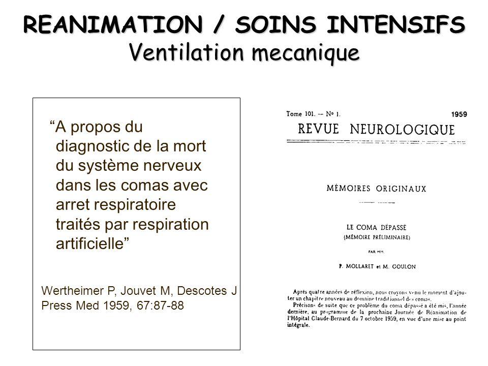 REANIMATION / SOINS INTENSIFS