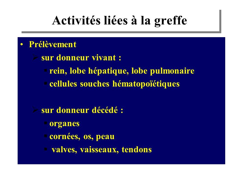 Activités liées à la greffe