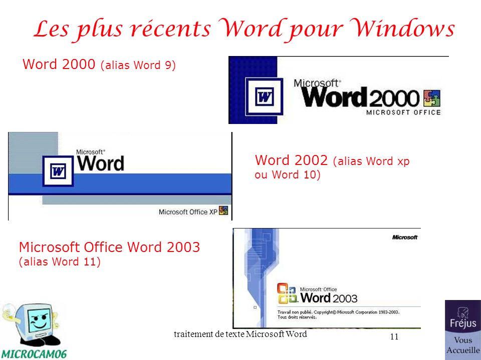 Les plus récents Word pour Windows