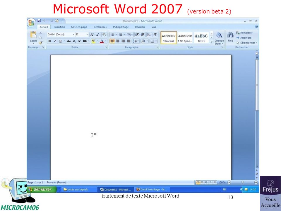 Microsoft Word 2007 (version beta 2)