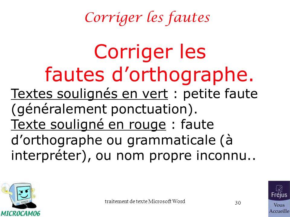 Corriger les fautes d'orthographe. Corriger les fautes