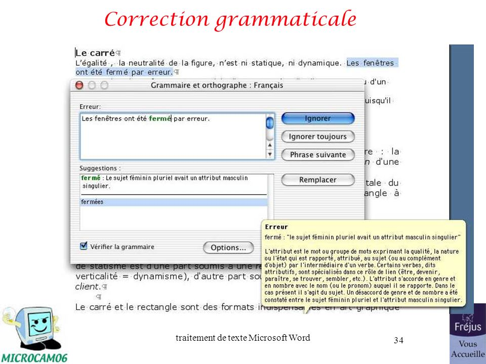 Correction grammaticale