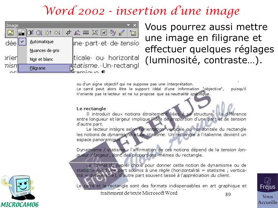 Word 2002 - insertion d'une image