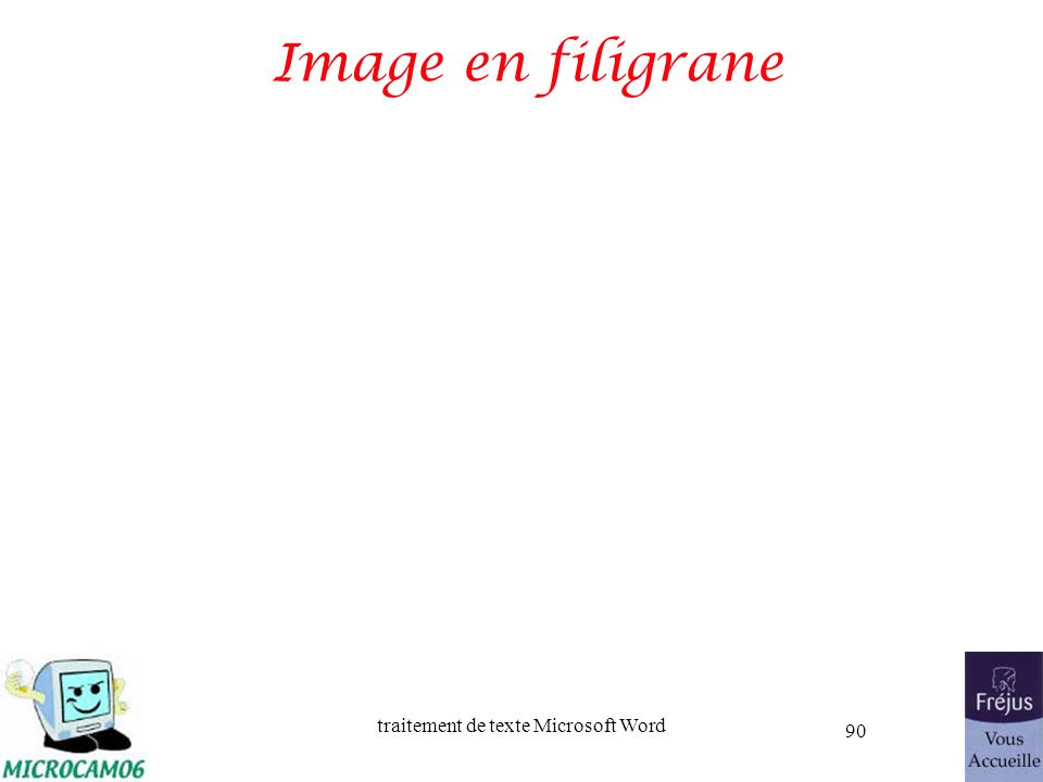 Image en filigrane