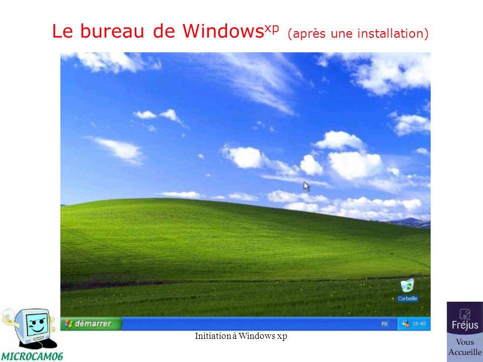 Le bureau de Windowsxp (après une installation)