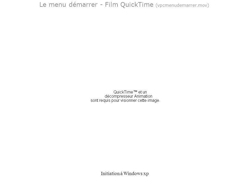 Le menu démarrer - Film QuickTime (vpcmenudemarrer.mov)