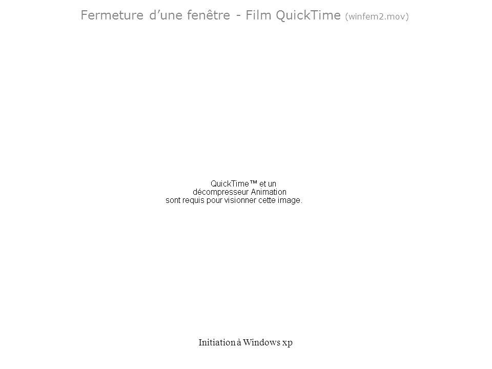 Fermeture d'une fenêtre - Film QuickTime (winfem2.mov)