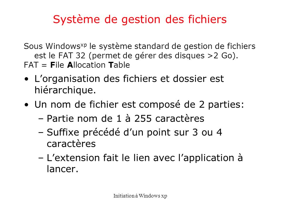 Système de gestion des fichiers
