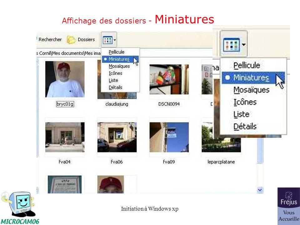 Affichage des dossiers - Miniatures