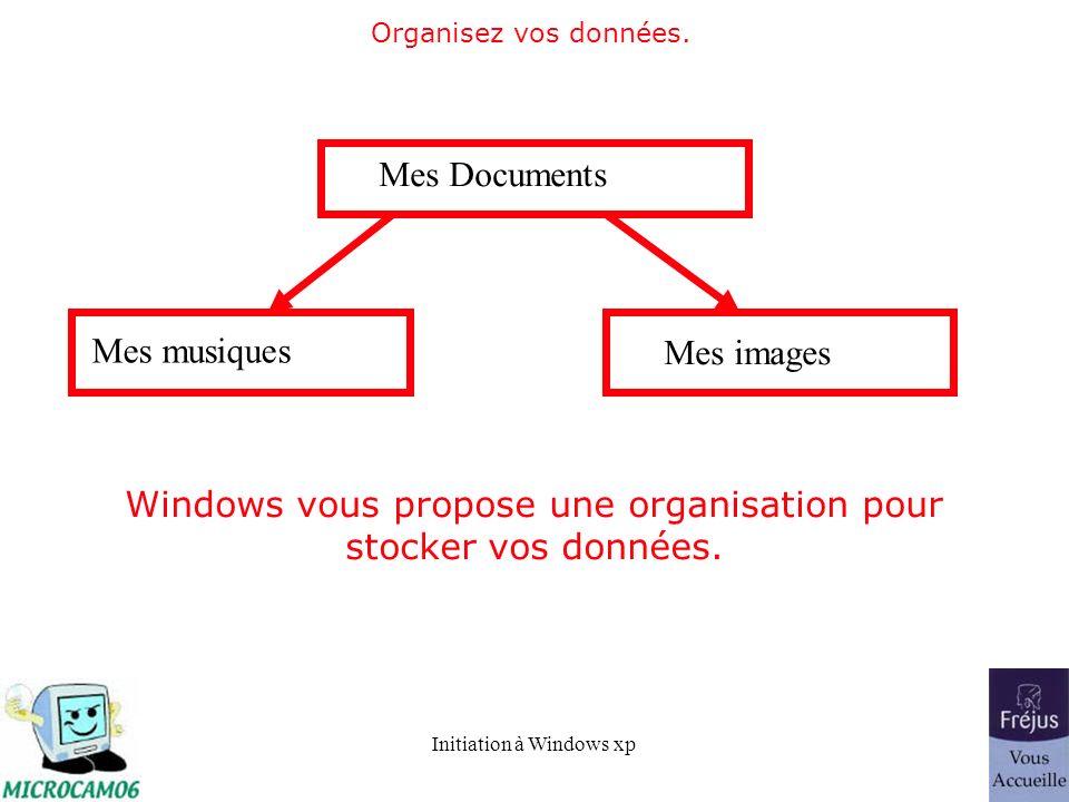Windows vous propose une organisation pour stocker vos données.
