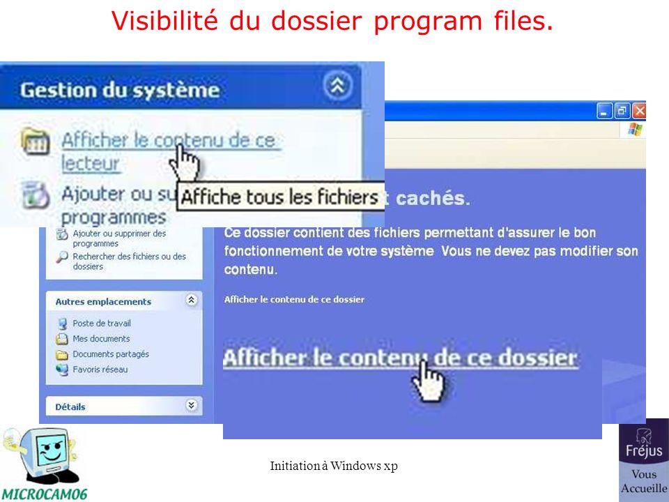 Visibilité du dossier program files.