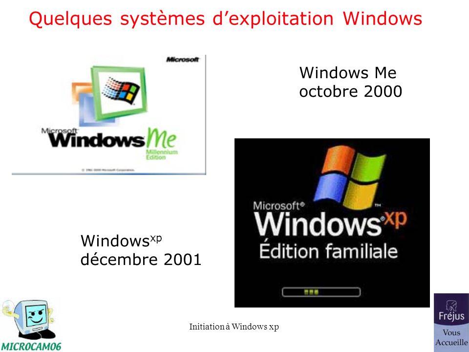 Quelques systèmes d'exploitation Windows