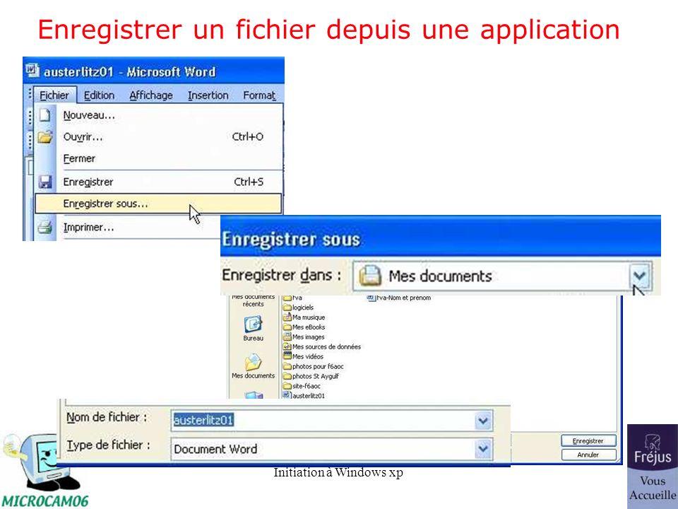 Enregistrer un fichier depuis une application