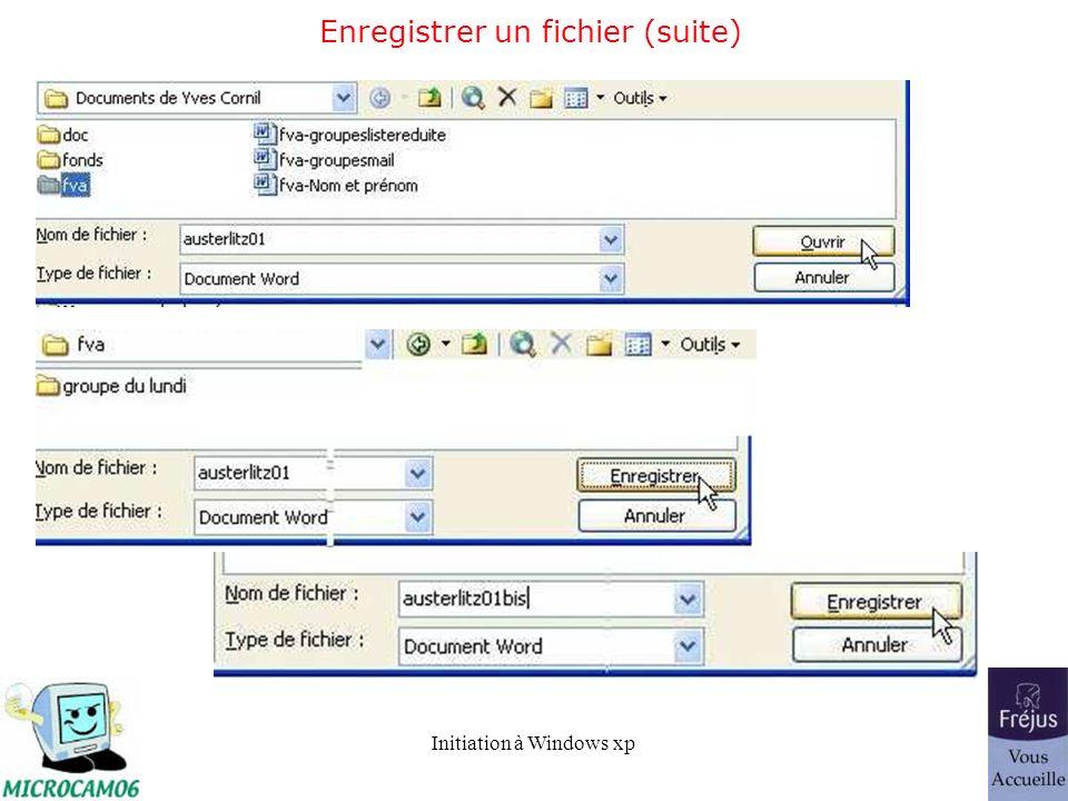 Enregistrer un fichier (suite)