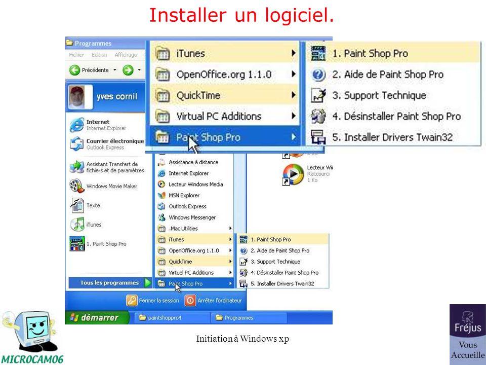 Installer un logiciel.