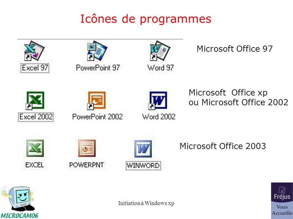 Icônes de programmes Microsoft Office 97 Microsoft Office xp